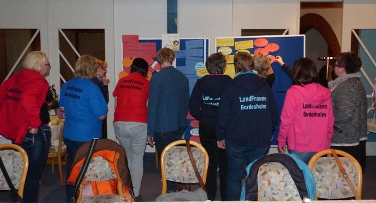 Bordesholmer Landfrauen; Ideensammlung auf der erweiterten Vorstandssitzung