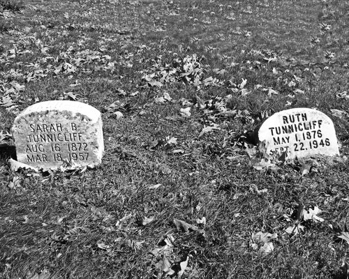 These modest stones mark the graves of noted bacteriologist and creator of the first measles vaccine Ruth Tunnicliff and her sister Sarah, who was associated with many social causes during the Progressive Era.