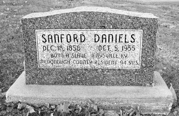 Born a slave, Sanford Daniels came to McDonough County after the Emancipation Proclamation. He was a hard working and patient man who coped well with his disadvantages and became a respected community elder.