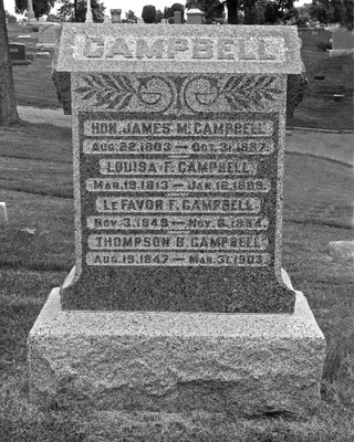 James Campbell laid out the new county seat of Macomb on the model of his hometown, Frankfort, Kentucky, and became the first circuit court clerk and postmaster.