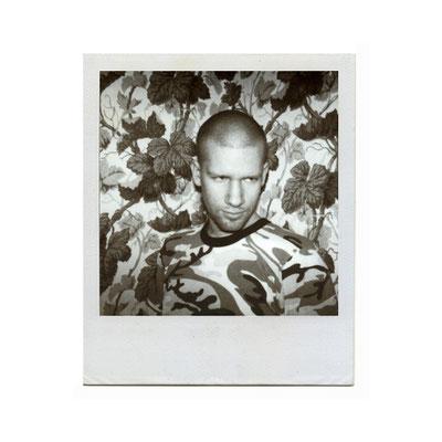 Michael Koch: self camouflage, 2000, Polaroid