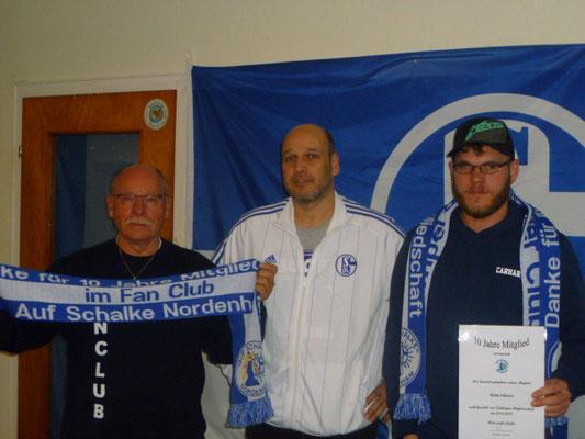 Günter und Armin 10 Jahre Mitglied im Fanclub