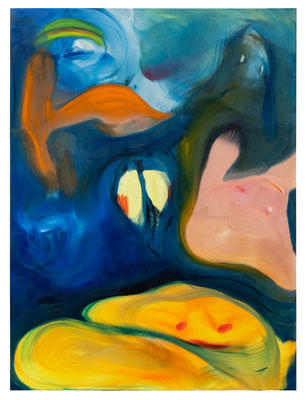 Under The Surface, 2021, oil on canvas, 220 x 165 cm / 86.61 x 64.96 inches