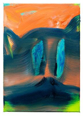 Lemur, 2020, oil and acrylic on canvas, 42 x 30 cm / 16.53 x 11.81 inches