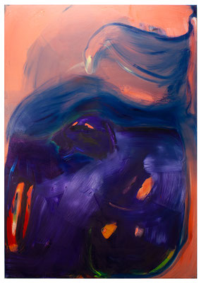 In My Belly, 2020, oil on canvas, 200 x 140 cm / 78.74 x 55.12 inches