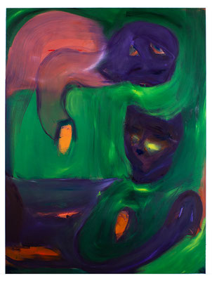Missgunst, 2020, oil and acrylic on canvas, 220 x 165 cm / 86.61 x 64.96 inches