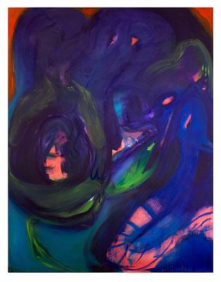Du Hund, 2020, oil and acrylic on canvas, 240 x 185 cm / 94.49 x 33.46 inches