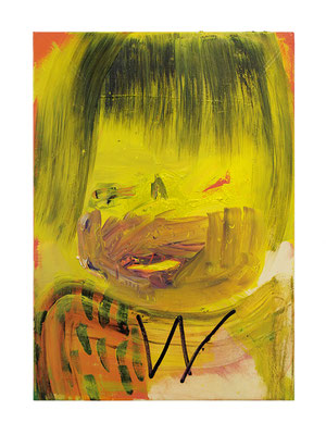 Babyface, 2017, oil and acrylic on canvas, 68 x 48 cm / 26.77 x 18.9 inches