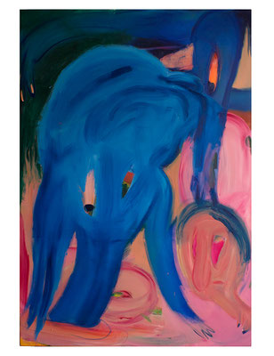 Big Fish and Girl, 2019, oil and acrylic on canvas, 260 x 180 cm / 102.36 x 70.87 inches