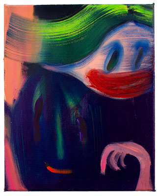 Charming Ghost, 2020, oil on canvas, 40 x 32 cm / 15.75 x 12.6 inches