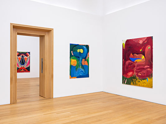 """Installation view """"Jetzt! Junge Malerei in Deutschland"""", Exhibition at Museum Wiesbaden, 2019, Photo: Museum Wiesbaden / Bernd Fickert"""
