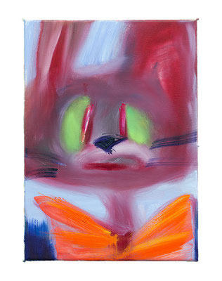 Herr Hase, 2019, oil on canvas, 40 x 32 cm / 15.75 x 12.6 inches