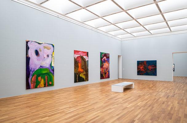 """Installation view """"Jetzt! Junge Malerei in Deutschland"""", Exhibition at Kunstmuseum Bonn, 2019, Photo: David Ertl"""