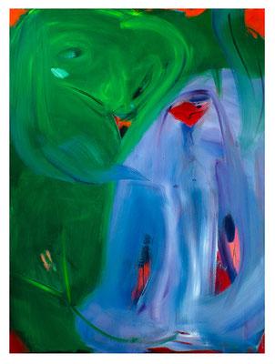 Schwanenprinzessin, 2019,  oil and acrylic on canvas, 160 x 120 cm / 63 x 47.24  inches