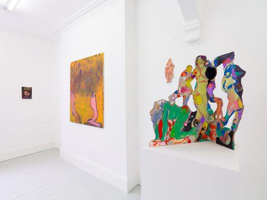 They Catch Feelings, I Catch Bodies, Sim Smith, London, 2019, with Jenna Gribbon, Aneta Kajzer, Kemi Onabule, Anne Ryan