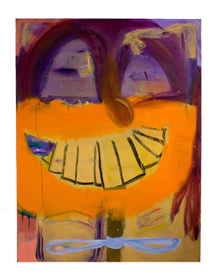 Just Smile, 2019, oil and acrylic on canvas, 200 x 150 cm / 78.74 x 59.06 inches