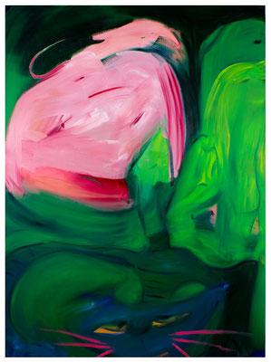 Katz und Maus, 2020, oil on canvas, 190 x 140 cm / 74.8 x 55.12 inches