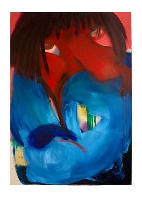Heartaches, 2018, oil and acrylic on canvas, 200 x 140 cm / 78.74 x 55.12 inches