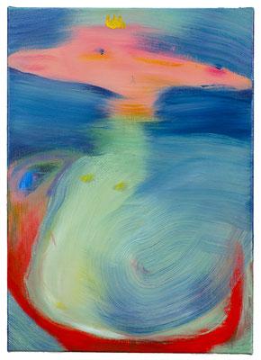 Drachenprinz, 2021, oil on canvas, 70 x 50 cm / 27.6 x 19.69  inches