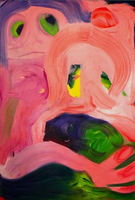 Keep Calm, 2020, oil and acrylic on canvas, 280 x 190 cm / 110.24 x 74.8 inches