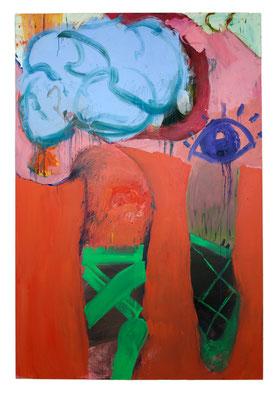 Ballerina, 2017, oil and acrylic on canvas, 300 x 200 cm / 118.11 x 78.74 inches