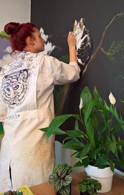 Muurschildering Mufasa 2017 Atelier Floor Hertog Zwolle