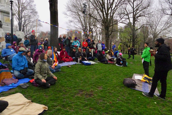 Pause for the Planet: Public meditation on the Boston Common amidst and in solidarity with the March for Science and Earth Day. April 22, 2017.