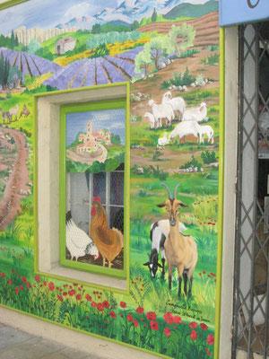 Trompe l'oeil à La Gacilly (Morbihan)