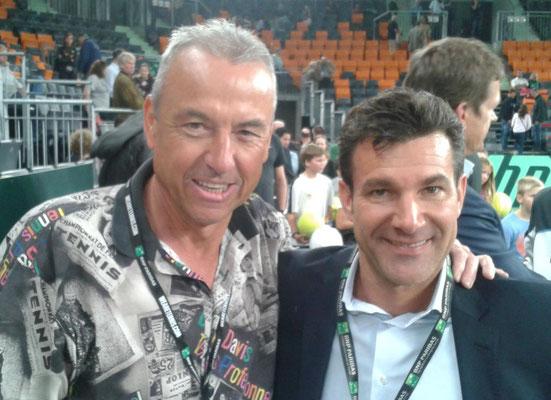 mit Charly Steeb beim Davis Cup 2013