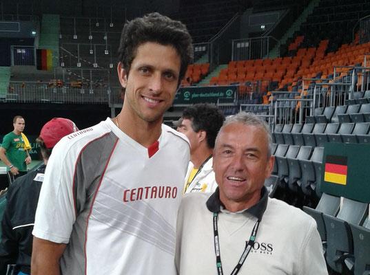 mit Marcelo Melo DWRL Nr. 14 Brasil Davis Cup Team 2013