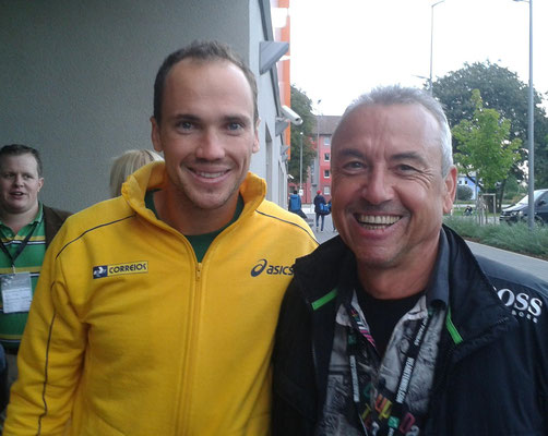 mit Bruno Soares beim Davis Cup 2013