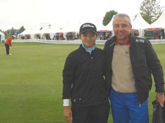 mit Chinas erster LET-Spielerin Zhang Yu Yang