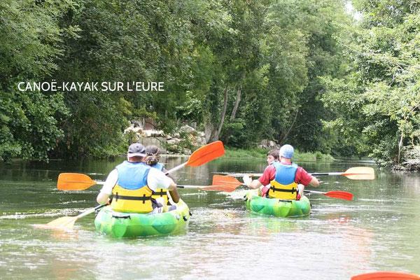 Plusieurs bases de Canoë-Kayak le long de l'Eure