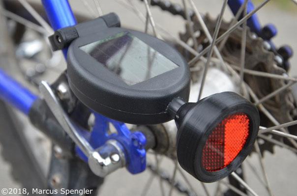 Fahrrad-Solar-Rücklicht