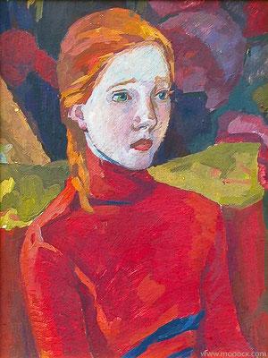 """Оленька"" 2001, к.т., 50х35"