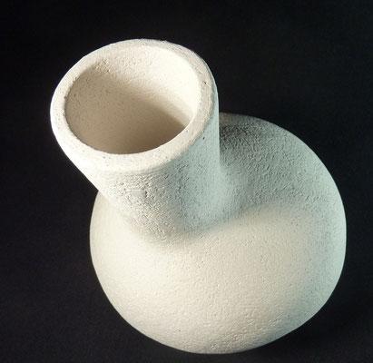 Réf : SC202001 - Faïence blanche chamottée - D 19cm x H 24cm