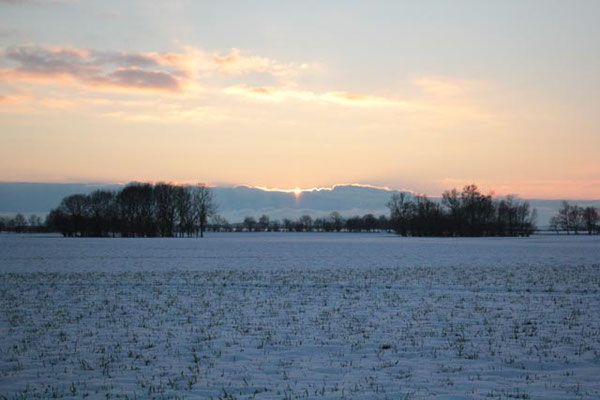 Eislandschaft Groß Schoritz