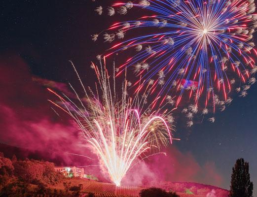 Feuerwerk an der Villa Ludwigshöhe