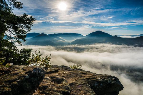 Nebelfelder über Annweiler
