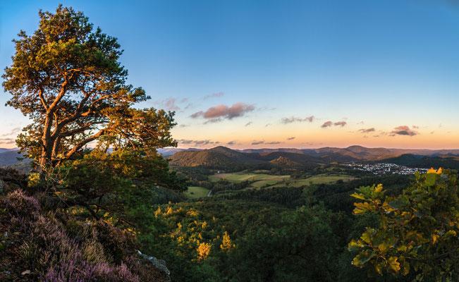 Aussicht vom Buhlsteinpfeiler bei Sonnenaufgang