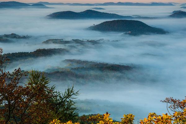 Landschaft im Nebel