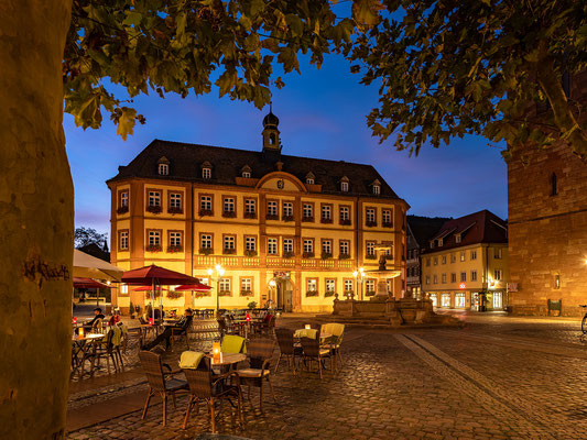 Blaue Stunde in Neustadts Altstadt