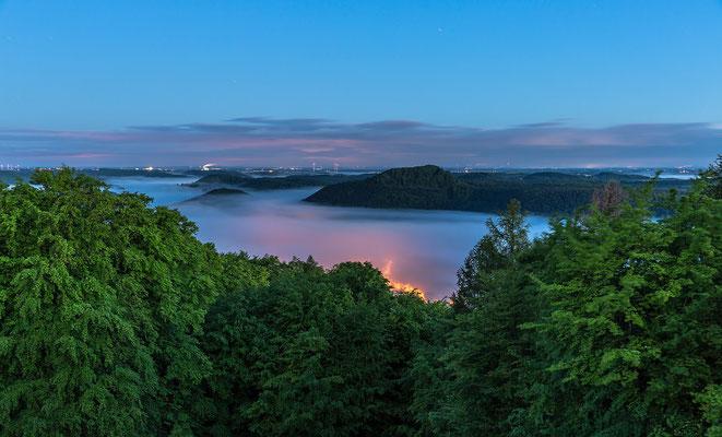 Ausblick vom Winschertfels vor Morgengrauen