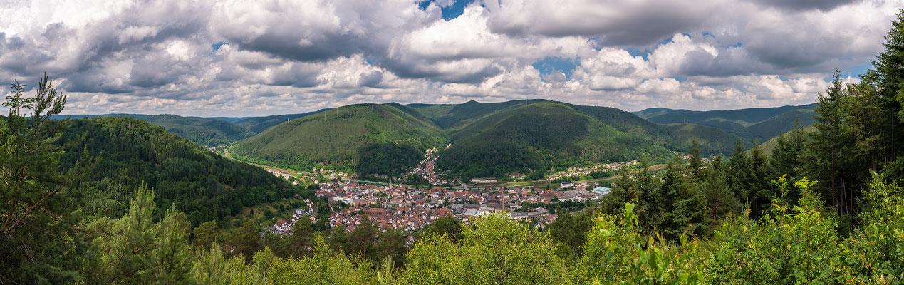 Panoramablick auf Lambrecht