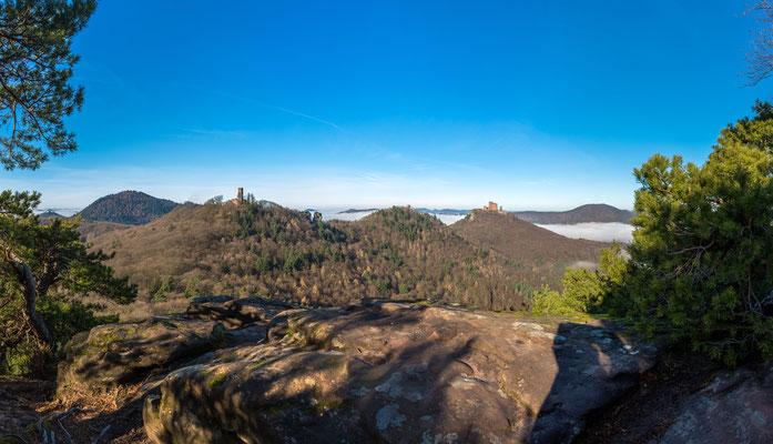 Burg Trifels in Nebelstimmung