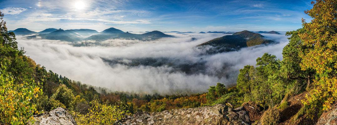 Queichtal unter herbstlichem Nebel