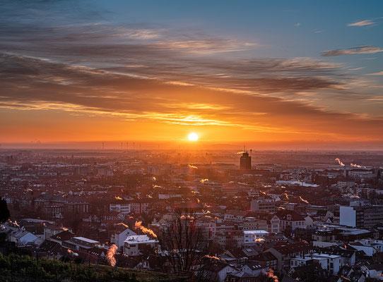 Sonnenaufgang über Neustadt