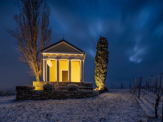 Winterleuchten am Pavillon bei Maikammer