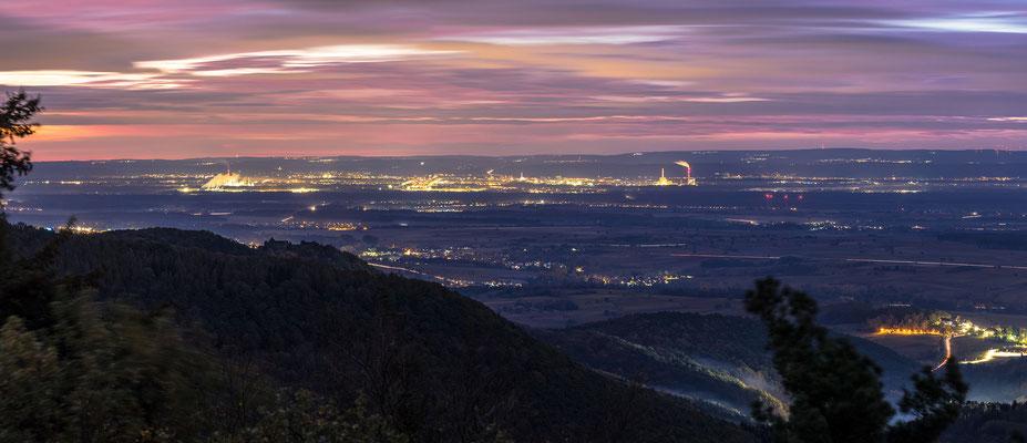 Morgendliche Aussicht in die Rheinebene