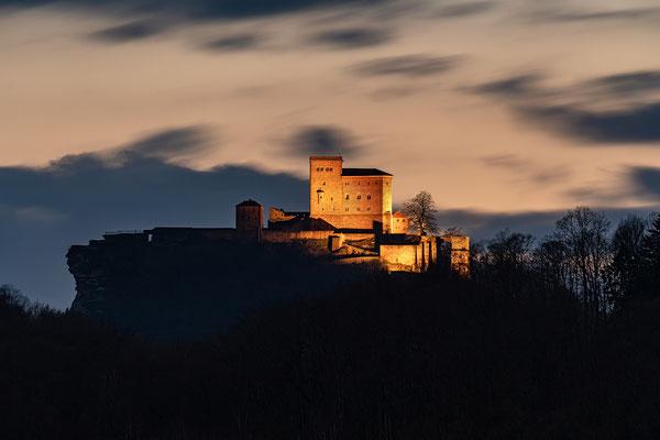 Blick auf den Trifels von Ranschbach